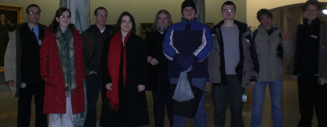 The Vision of Earth Team in the cold month of January 2010